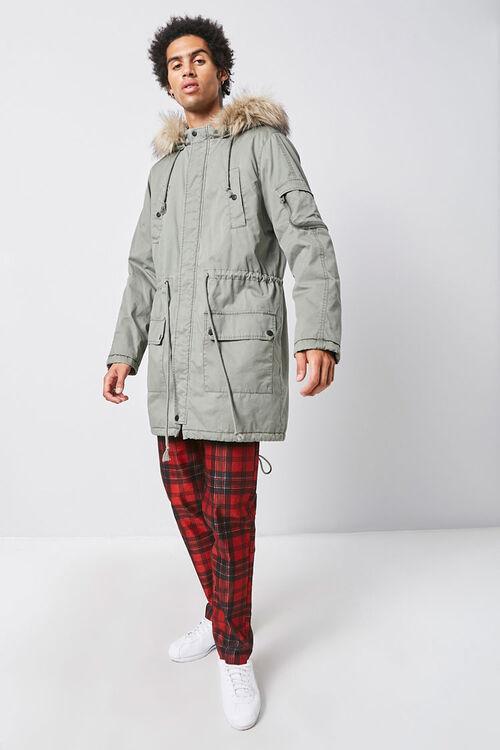 Faux Fur-Trim Longline Parka, image 5