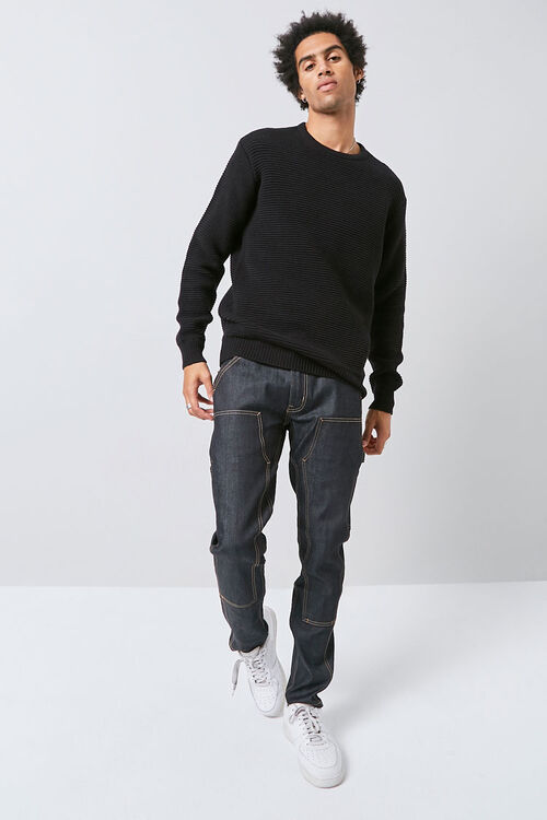 Ribbed Long Sleeve Sweater, image 4