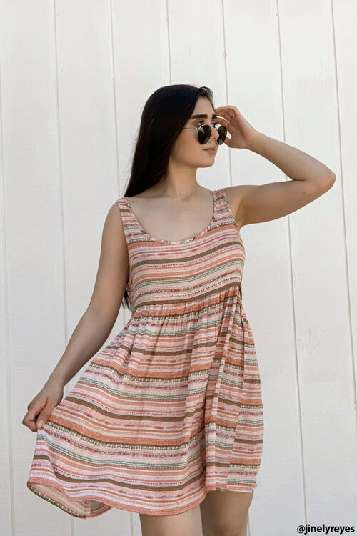 Striped Tank Dress, image 1