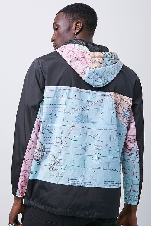 Reason Globe Graphic Colorblock Anorak, image 3
