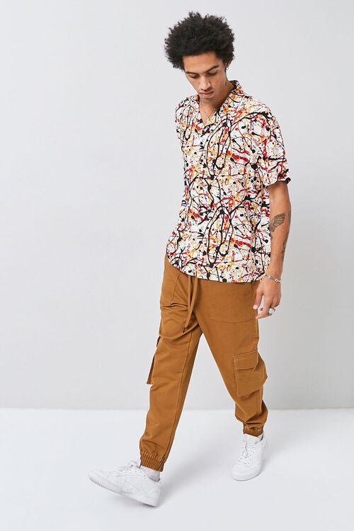 CREAM/MULTI Classic Fit Paint Splatter Shirt, image 4