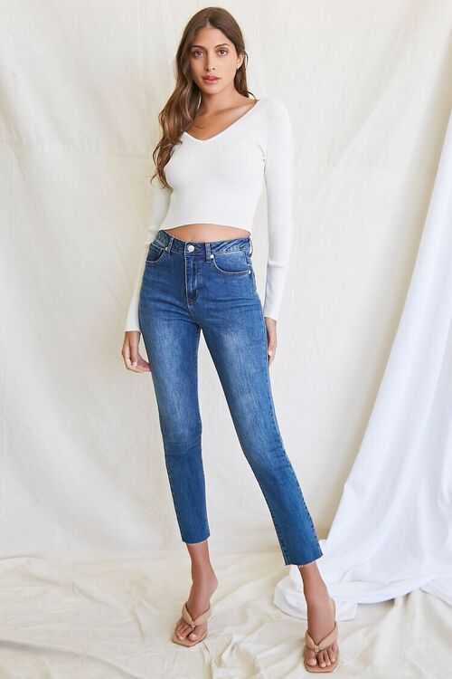 CREAM Ribbed Cropped Sweater, image 4