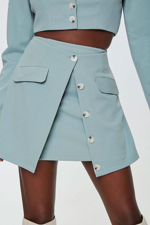 Button-Down Overlay Skirt, image 1