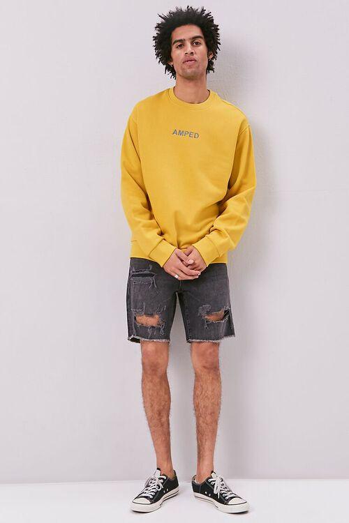 Amped Embroidered Graphic Fleece Sweatshirt, image 4