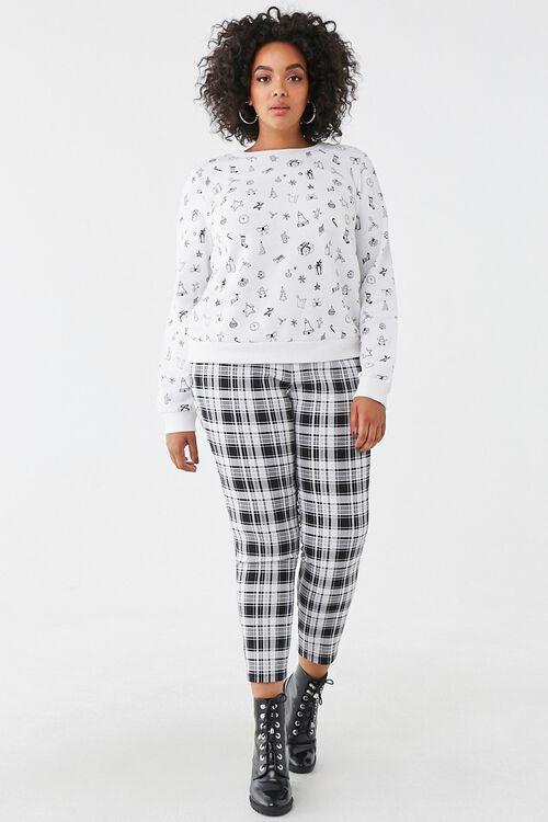 Plus Size Christmas Print Sweatshirt, image 4