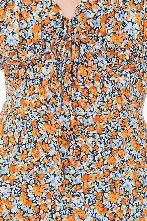 Floral Print Sweetheart Dress, image 5