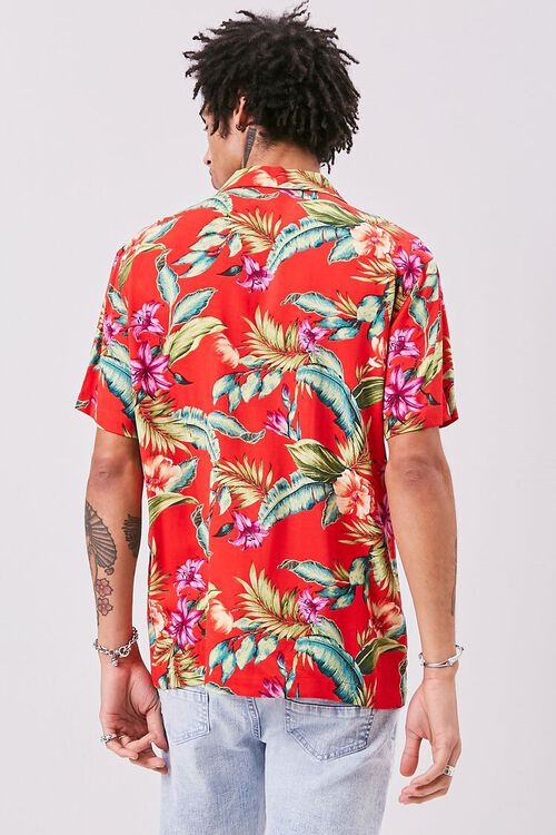 RED/MULTI Classic Fit Tropical Print Shirt, image 3