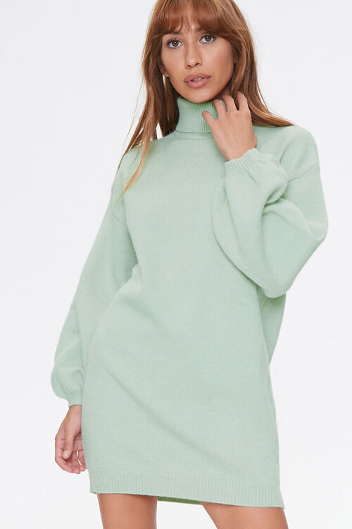 Turtleneck Sweater Dress, image 1
