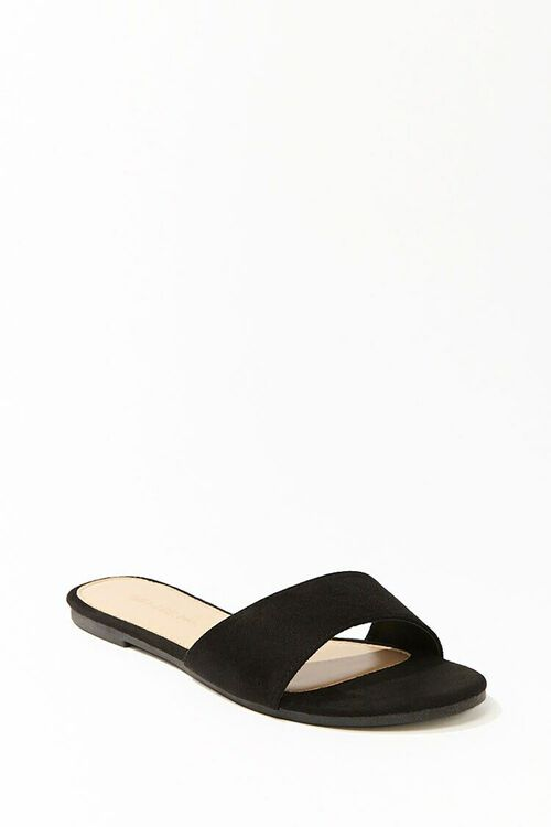 Faux Suede Slip-On Sandals, image 2
