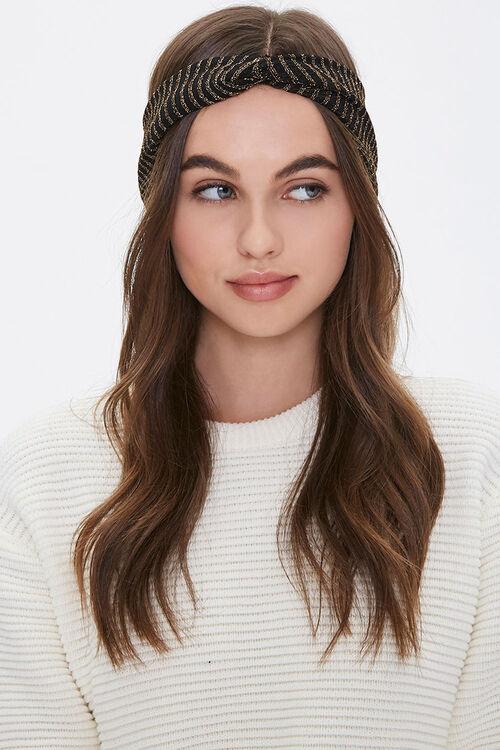 Metallic Striped Headwrap, image 1