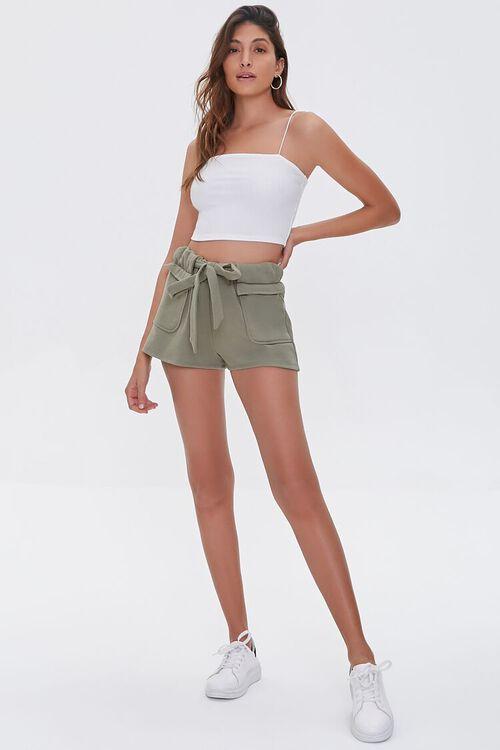 Fleece Tie-Waist Shorts, image 5