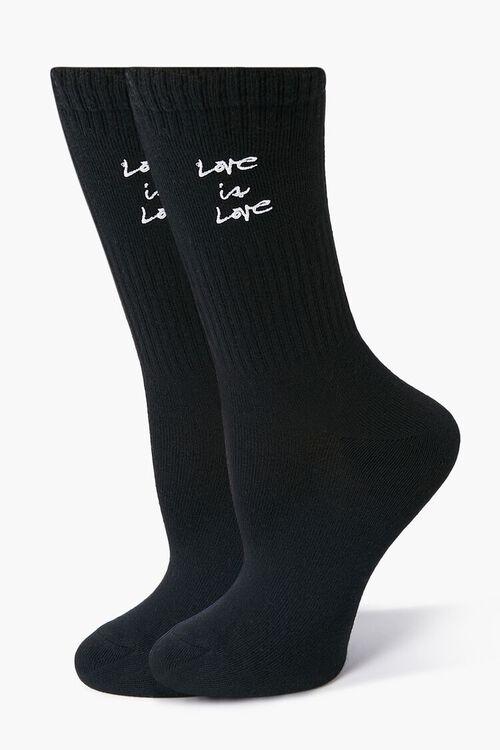 Love is Love Graphic Crew Socks, image 1