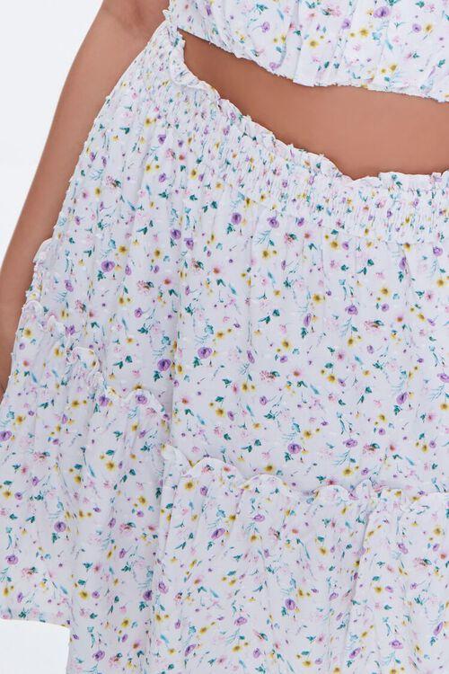 Plus Size Floral Print Mini Skirt, image 6