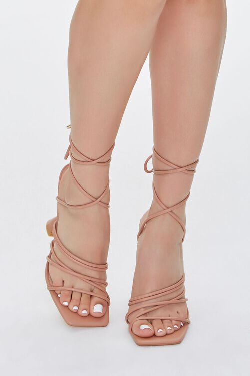 Wraparound Square-Toe Heels, image 4