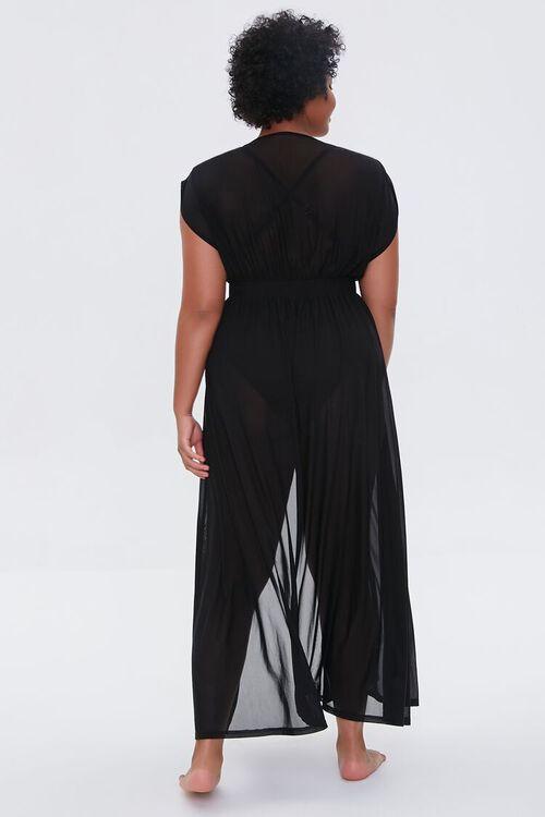 Plus Size Sheer Mesh Swim Cover-Up Dress, image 3