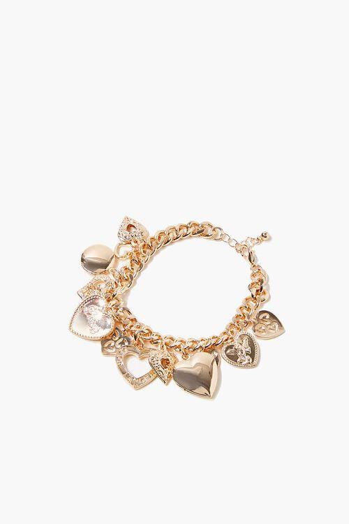 Heart Charm Chain Bracelet, image 1