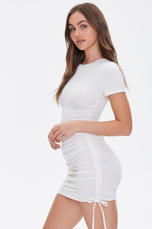 Ruched Self-Tie Bodycon Dress, image 1