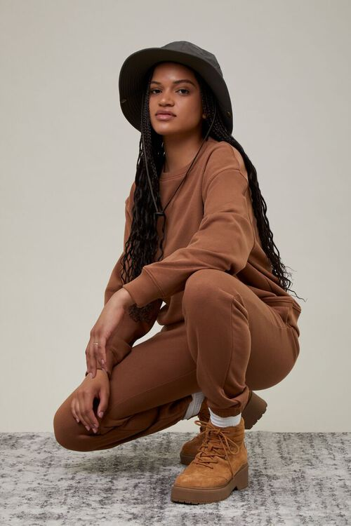 MOCHA French Terry Crew Pullover, image 1