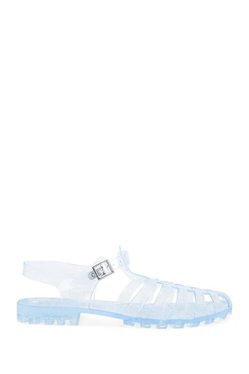 CLEAR Strappy Jelly Sandals, image 1