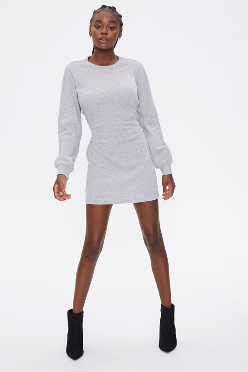 French Terry Cutout Dress, image 4