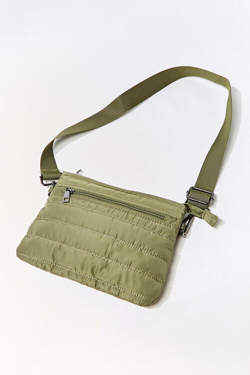 Channel-Stitched Crossbody Bag, image 1