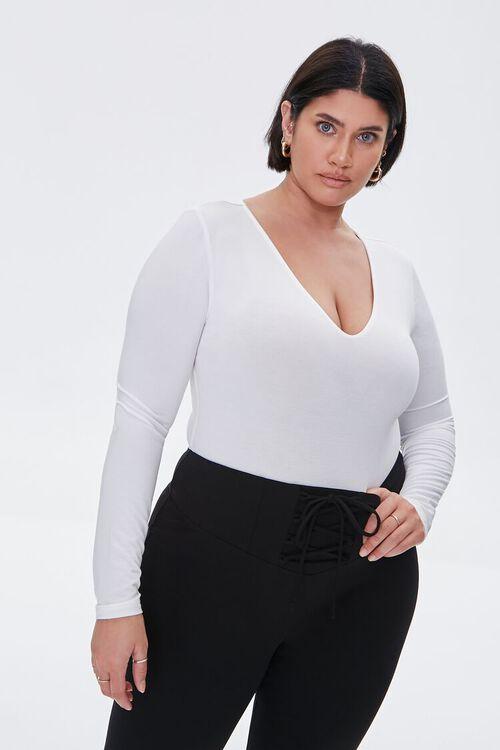 Plus Size Long-Sleeve Bodysuit, image 1