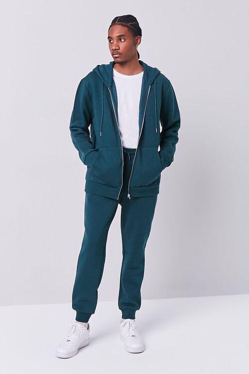 GREEN Fleece Zip-Up Hoodie, image 4