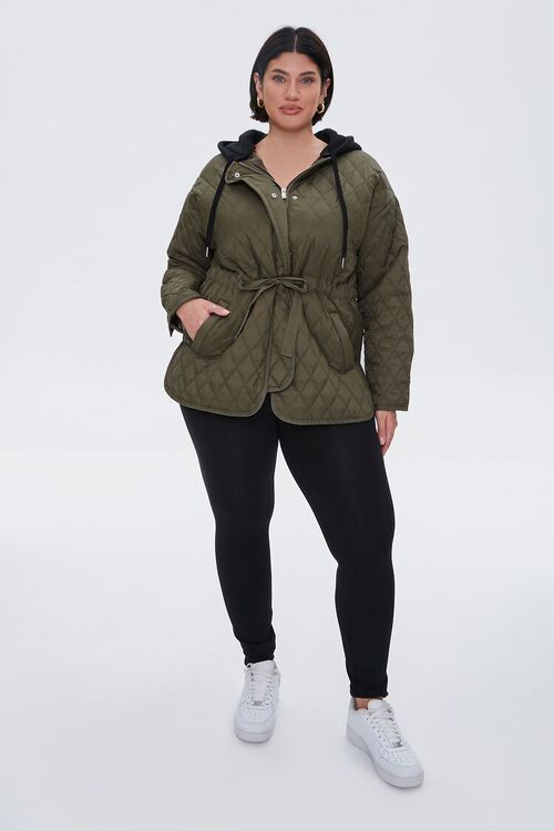 Plus Size Hooded Quilted Jacket, image 4