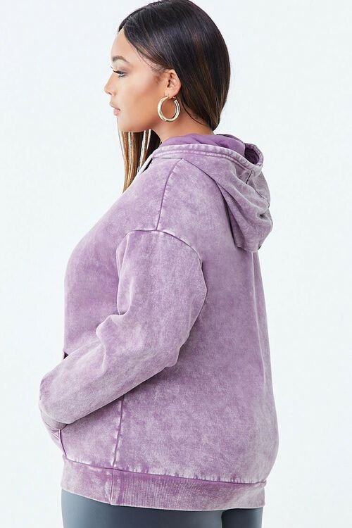 PURPLE/WHITE Plus Size Limited Edition Graphic Hoodie, image 2