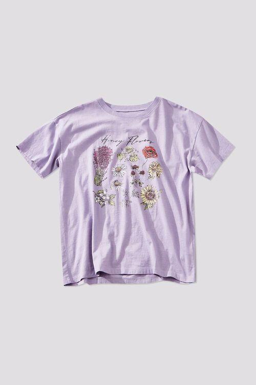 LAVENDER/MULTI Honey Flowers Graphic Tee, image 1