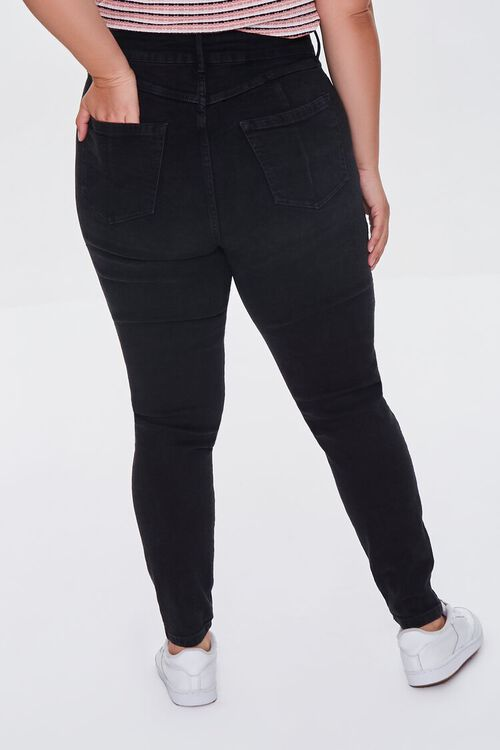 BLACK Plus Size Skinny Uplyfter Jeans, image 4