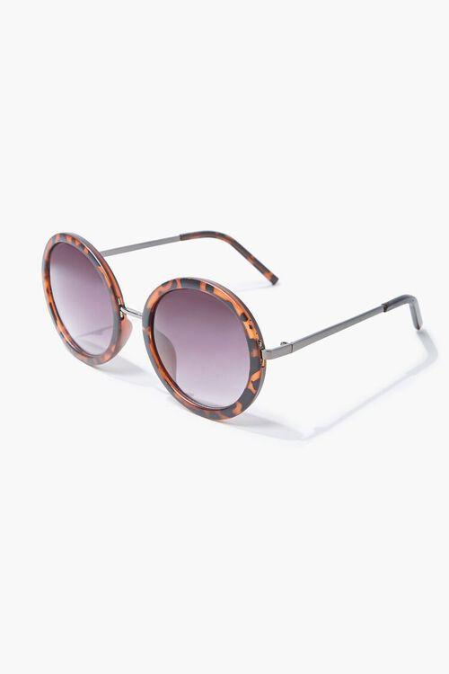 Tortoiseshell Round Sunglasses, image 1