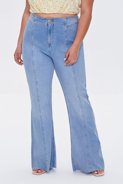 Plus Size High-Rise Flare Jeans, image 2