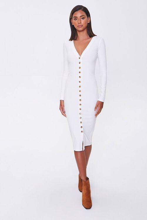 Button-Front Midi Dress, image 4