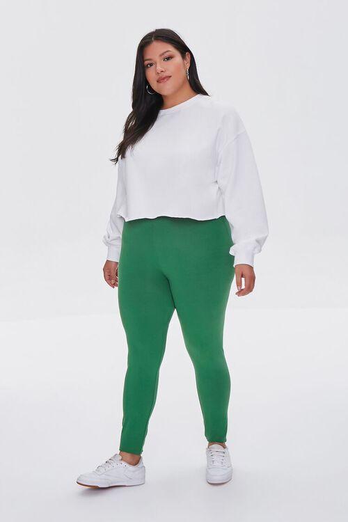 JUNIPER Plus Size Basic Organically Grown Cotton Leggings, image 1
