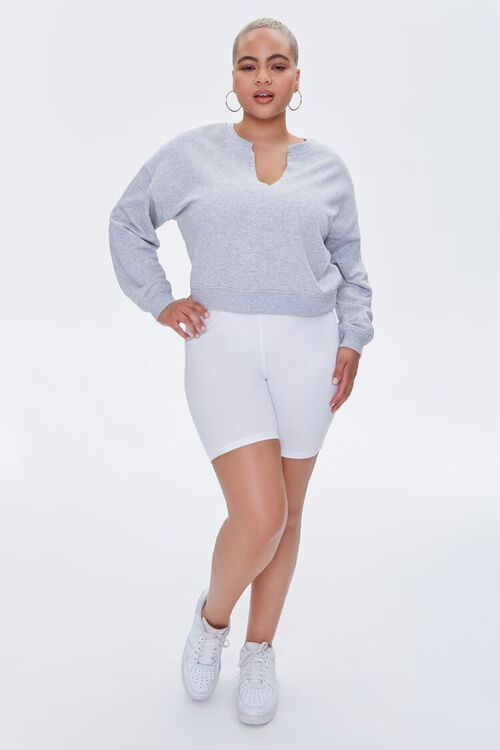 Plus Size Split-Neck Sweatshirt, image 4
