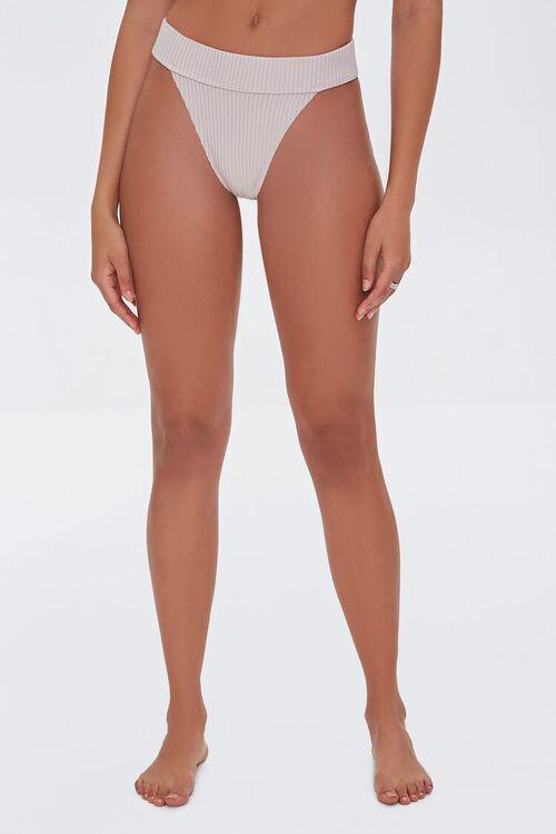 Ribbed High-Waist Bikini Bottoms, image 3