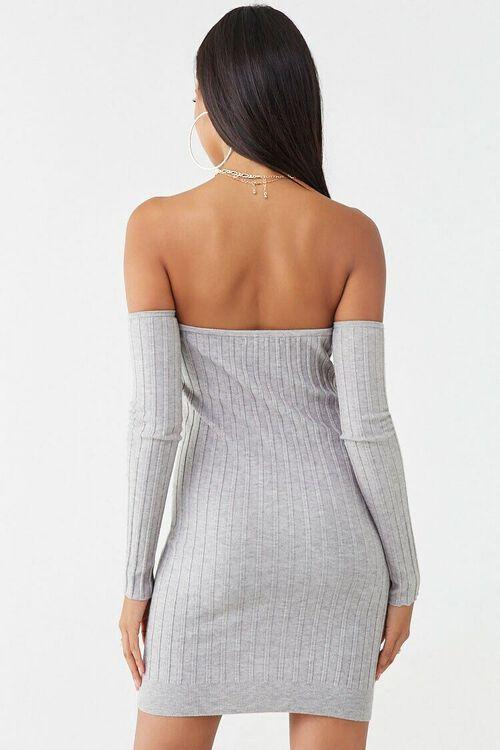 Ribbed Off-the-Shoulder Mini Dress, image 3