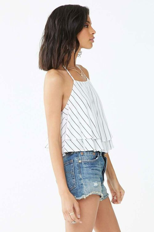 Striped Flounce Cropped Cami, image 2