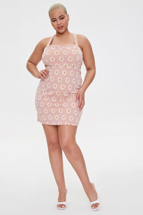 Plus Size Daisy Print Mini Dress, image 4