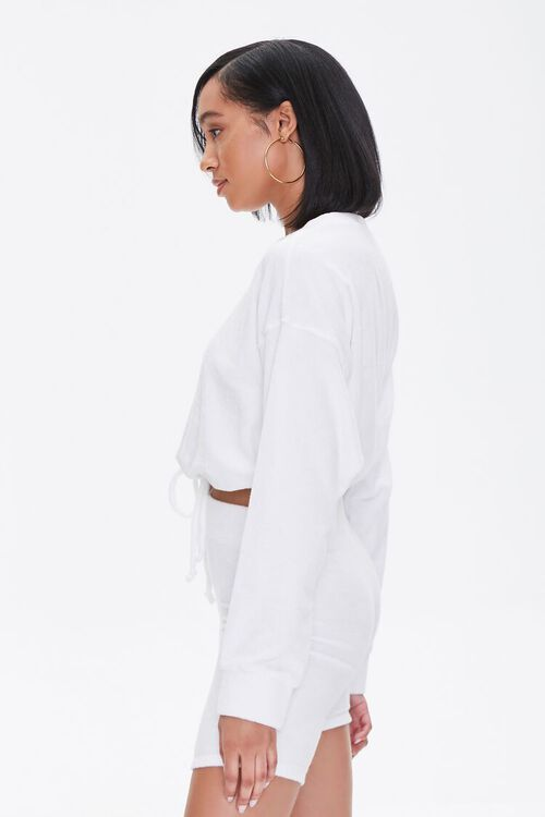 French Terry Drop-Sleeve Top, image 2