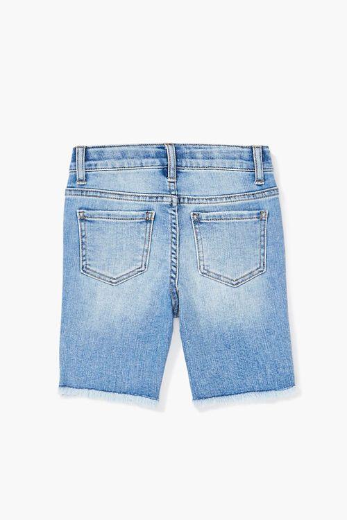 Girls Frayed Denim Bermuda Shorts (Kids), image 2