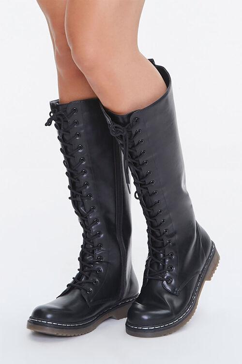 Lace-Up Combat Boots, image 1