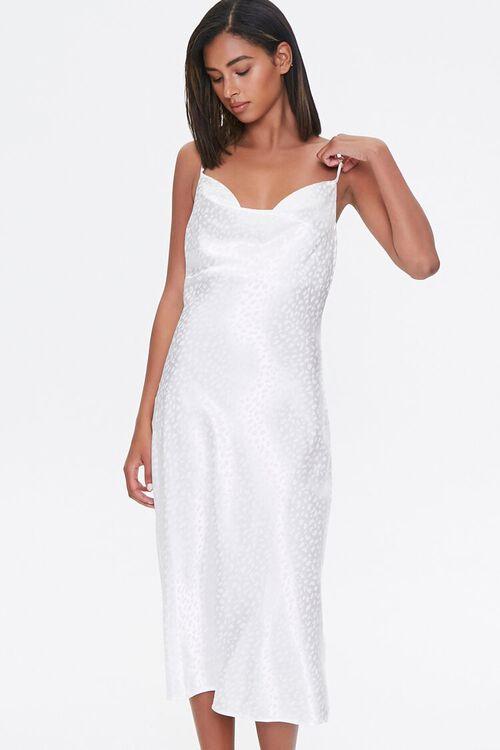 Satin Leopard Print Slip Dress, image 1
