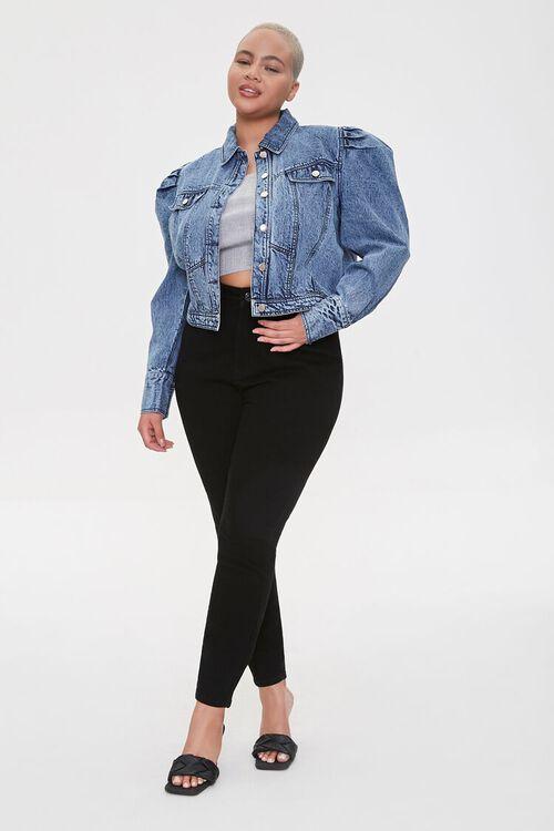Plus Size Puff-Sleeve Jacket, image 4