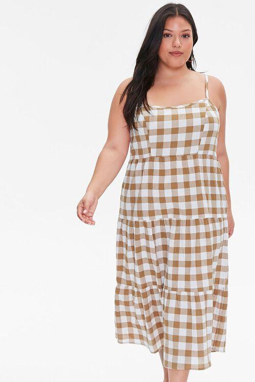 Plus Size Plaid Cami Midi Dress, image 4