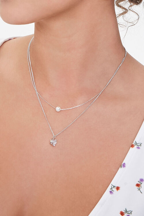Layered CZ Pendant Necklace, image 1