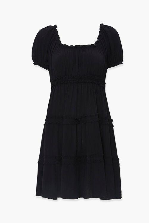 Tiered Ruffle-Trim Mini Dress, image 1