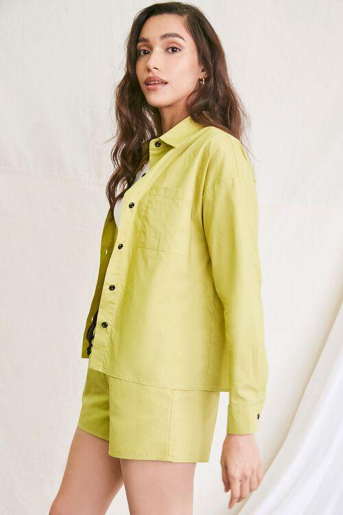 OLIVE Pocket Shirt & Drawstring Shorts Set, image 2