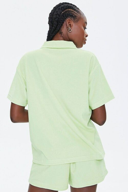 Terry Cloth Shirt & Shorts Set, image 3